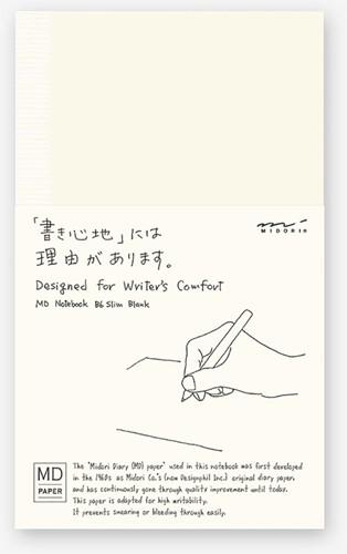 Midori B6 Notitieboek Slim blanco