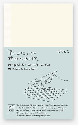 Midori B6 Notitieboek Slim geruit