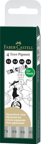 Faber Castell Fibre-tip pen Ecco Pigment 0.2-0.4-0.6-0.8 mm black