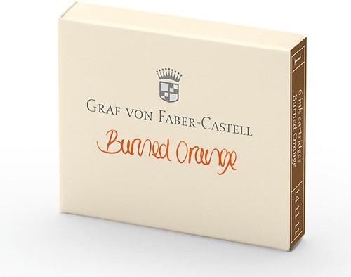 Graf von Faber Castell ink cartridges burned orange 6 pieces