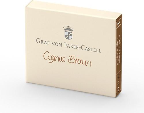 Graf von Faber Castell ink cartridges cognac brown 6 pieces
