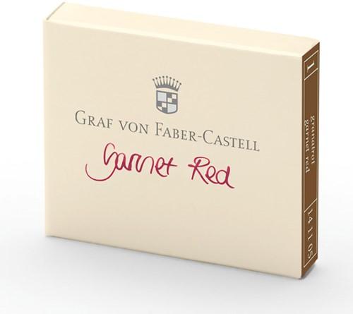 Graf von Faber Castell inkt cartridges garnet red 6 stuks