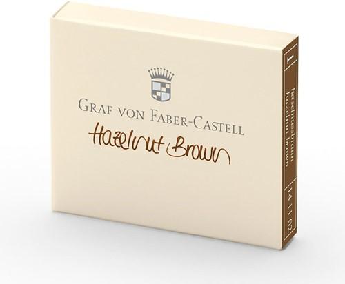 Graf von Faber Castell inkt cartridges hazelnut brown 6 stuks