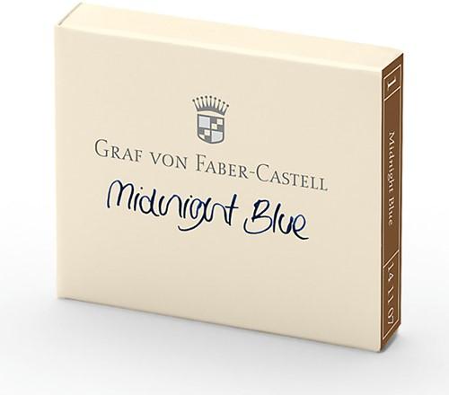 Graf von Faber Castell inkt cartridges midnight blue 6 stuks