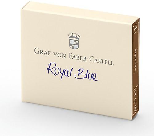 Graf von Faber Castell ink cartridges royal blue 6 pieces