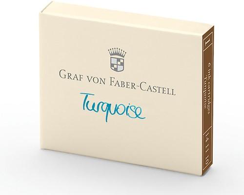 Graf von Faber Castell ink cartridges turquoise 6 pieces