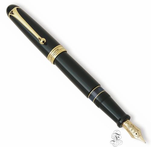 Aurora 88 Ottantotto Big zwart met goud trim vulpen