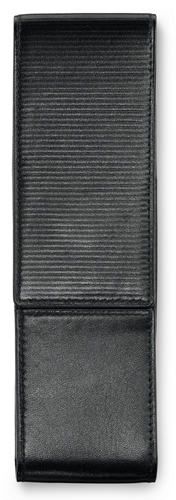 Lamy pen case for 2 pens, leather black with embossing