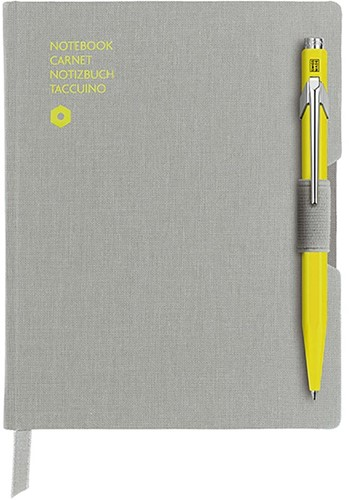 Caran d'Ache 849 Notitieboek Office A6 Grijs canvas