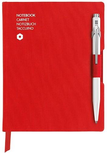 Caran d'Ache 849 Notitieboek Office A6 Rood canvas