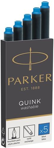 Parker inkt cartridges blauw 5 stuks