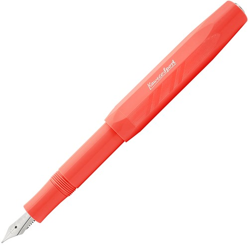 Kaweco Sport Coral Guilloche Silver fountain pen - Fontoplumo Exclusive