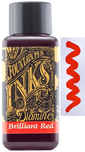 Diamine Brilliant Red ink 30ml