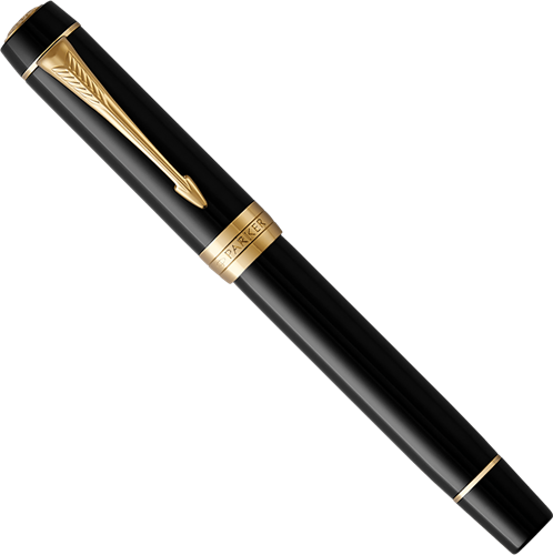 Parker Duofold Classic Black Centennial with gold trim fountain pen