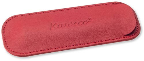 Kaweco Sport for 2 pens leather penpouch chili pepper