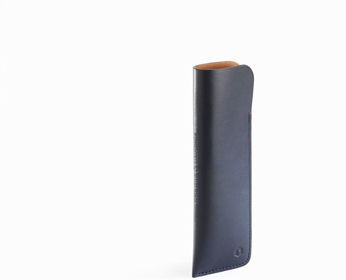 Caran d'Ache Pen case for 2 pens midnight blue leather