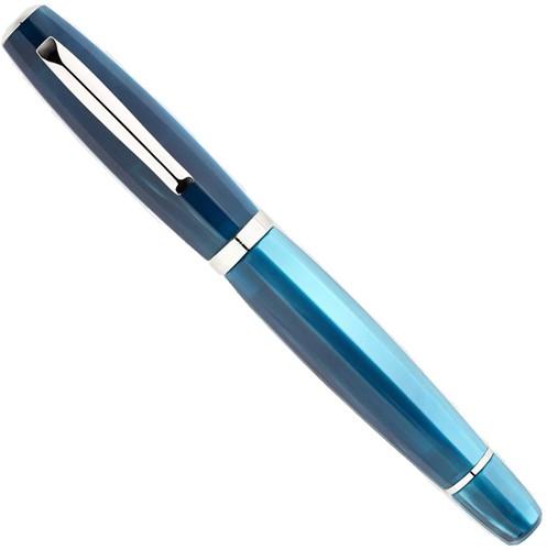 Scribo Feel Panarea and platinum trim fountain pen