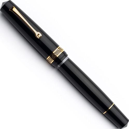 Leonardo Momento Magico Black glossy and gold trim fountain pen