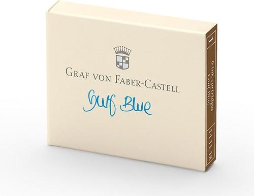 Graf von Faber Castell ink cartridges gulf blue 6 pieces