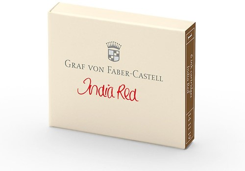 Graf von Faber Castell inkt cartridges india red 6 stuks