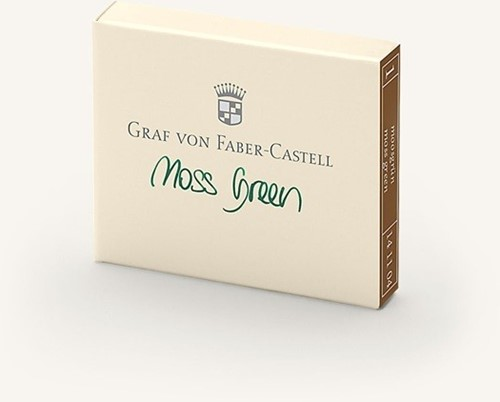 Graf von Faber Castell inkt cartridges moss green 6 stuks
