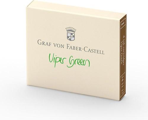 Graf von Faber Castell inkt cartridges viper green 6 stuks