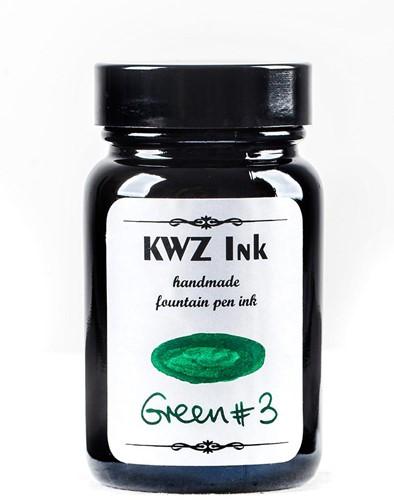 KWZ Green nr 3 fountain pen ink 60ml