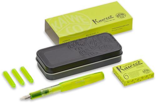 Kaweco Sport Ice markeer pen geel SET