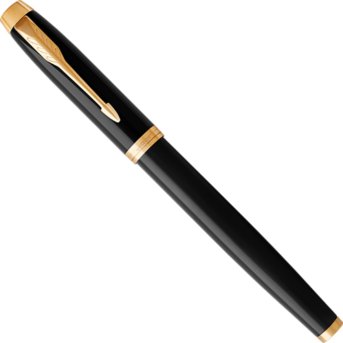 Parker IM Core Black and gold rollerball pen