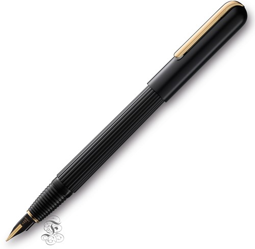 Lamy Imporium fountain pen black and gold