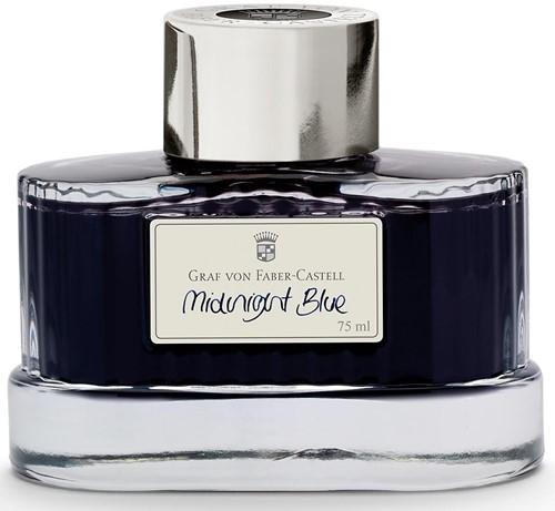 Graf von Faber-Castell fountain pen ink 75ml Midnight Blue
