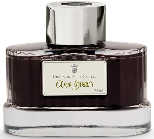 Graf von Faber-Castell fountain pen ink 75ml Olive Green