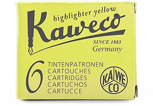 Kaweco inkt cartridges highlighter geel (6 stuks)