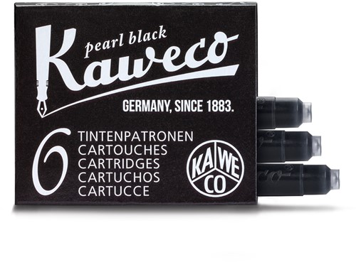 Kaweco inkt cartridges parel zwart (6 stuks)