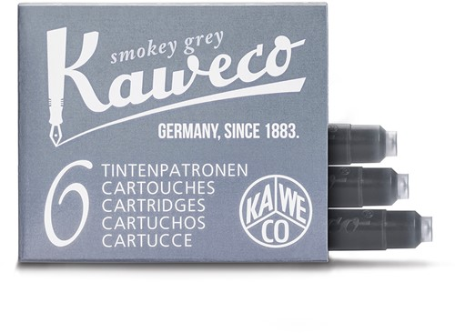 Kaweco ink cartridges smokey grey (6 pcs)