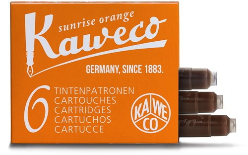 Kaweco ink cartridges sunrise orange (6 pcs)