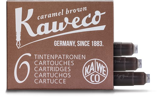 Kaweco ink cartridges caramel brown (6 pcs)