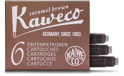 Kaweco inkt cartridges Caramel Brown (6 stuks)