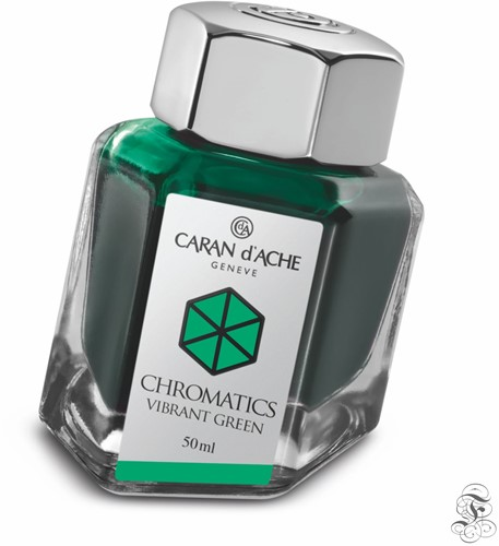 Caran d'Ache Chromatics ink Vibrant Green 50ml