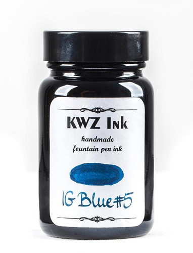 KWZ IG Blue nr 5 fountain pen ink 60ml Iron Gall