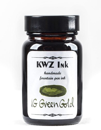 KWZ IG Green Gold fountain pen ink 60ml Iron Gall