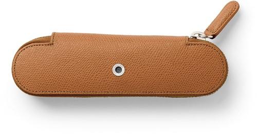 Graf van Faber Castell pen case for 2 pens cognac leather with zipper