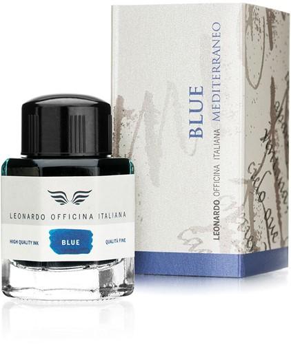 Leonardo inkt Blue Mediterraneo 40ml inkt in fles