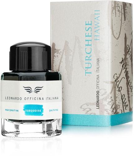 Leonardo ink Turchese Hawaii 40ml bottled ink