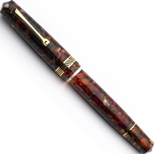 Leonardo Momento Magico Millefiori and gold trim fountain pen