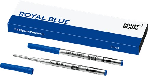 Montblanc Ballpoint Refill Royal Blue BROAD 2 pieces