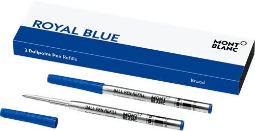 Montblanc Balpenvulling Royal Blue BREED 2 stuks