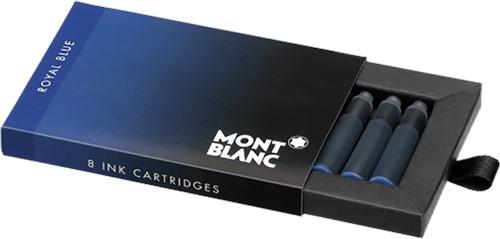 Montblanc ink cartridges Royal Blue 8 pieces per pack