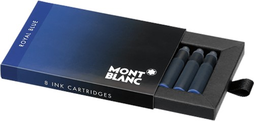 Montblanc inkt cartridges Royal Blue 8 stuks per pak