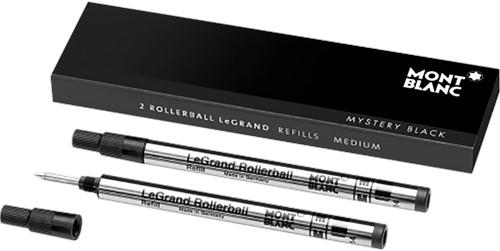 Montblanc Rollerball LeGrand Refill Mystery Black MEDIUM 2 stuks